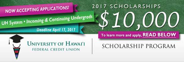 University of Hawaii Federal Credit Union scholarship promotional graphic