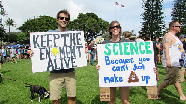Thousands March For Science Across Hawaiʻi