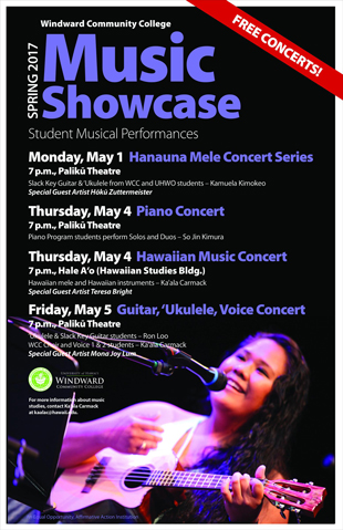 Windward CC Spring Music Concert 2017