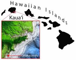 Map of Kauai east coast