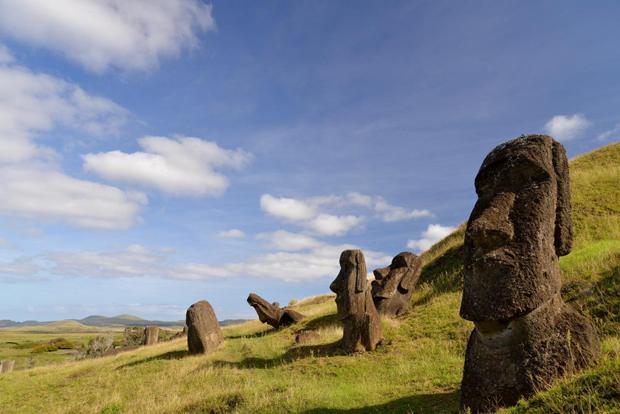 Moai (statues) on Rapa Nui