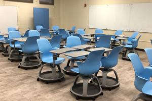 U H Hilo renovated classroom