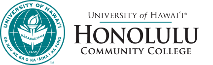 Honolulu Community College seal and nameplate