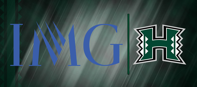IMG and UH Manoa Athletics logos