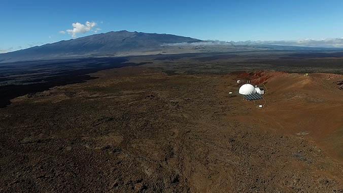 HI-SEAS dome on Mauna Loa