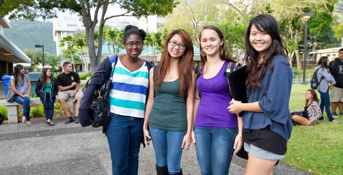Student on U H Manoa campus