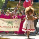 UH Hilo Samoan Club marching in campus parade