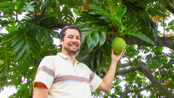 with breadfruit