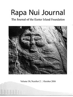 Cover of the Rapa Nui Journal: The Journal of the Easter Island Foundation