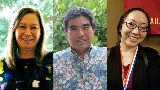 Tommylynn Benavente, Roy Kamida and Shaylyn Funasaki