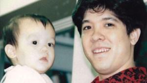 Ken Sato with his son as a baby