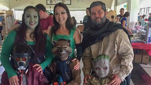 Family dressed as the Guardians of the Galaxy