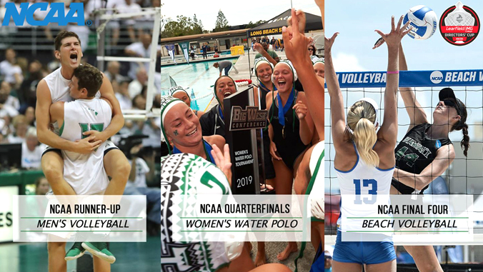 U H Manoa volleyball, water polo, beach volleyball players
