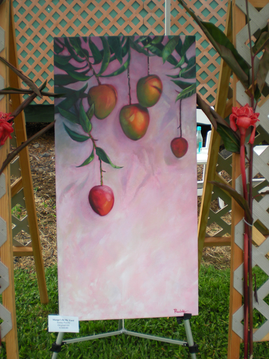A mango-themed painting by local artist Sunny Pauole.
