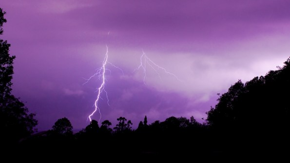 Lightning and thunder put on quite a show Saturday night (Oct 26) as seen in this image taken in Glenwood. Photography by Baron Sekiya   Hawaii 24/7