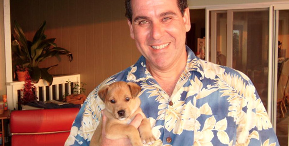 Greg Colden and Snaps (Photo courtesy of Kona Natural Soap)