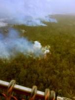 Friday, November 21, 2014 Hawaii County Civil Defense overflight of the Kilauea June 27th Lava Flow upslope breakout at 7:30 a.m.