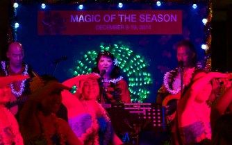 Friday night, December 8, 2014, opening for the 'Magic of the Season' week at the Hawaii County Building in Hilo. Photography by Baron Sekiya | Hawaii 24/7