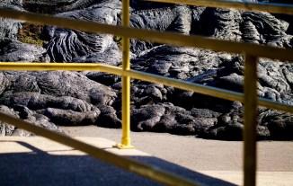 The Kilauea June 27th Lava Flow at the Pahoa Transfer Station. Photography by Baron Sekiya | Hawaii 24/7