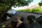 A camper enjoys the shade at Halapē. Photo/Jacob W. Frank