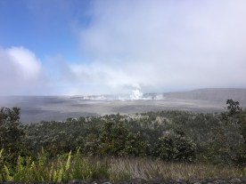 Another explosion occurred at Halema'uma'u at 12:51 a.m. HST today, releasing energy equivalent to a magnitude-5.3 earthquake. Following the explosion, summit activity consisted mostly of passive degassing at Halema'uma'u, similar to what is shown in this image taken mid-morning. Seismicity at the summit decreased after the explosion, but has been increasing throughout the day. Photo taken Sunday, June 10, 2018 courtesy of U.S. Geological Survey