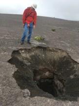 Sinkhole near Keanakakoi. NPS Photo