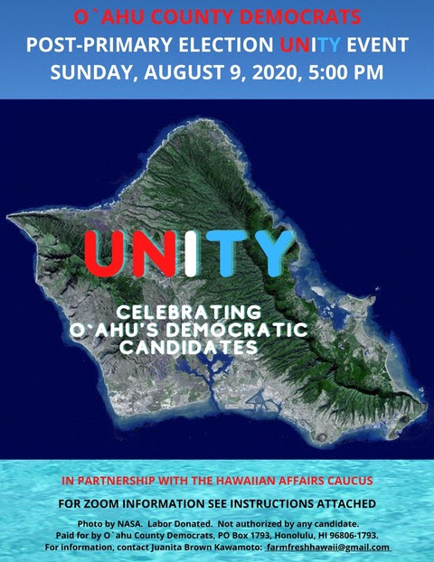 O'ahu Democrats Post-Primary Election Unity Event