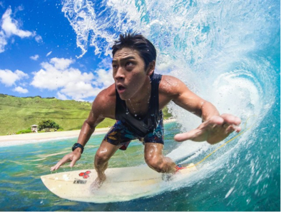 Surfing is a great workout in Hawaii