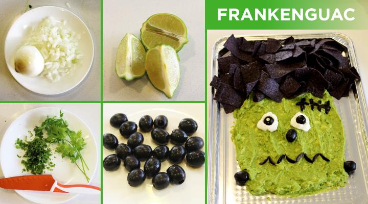 Frankenguac! Guacamole Frankenstein | Healthy Halloween Snacks