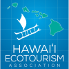 Hawaii Ecotourism Association Logo with Hawaiian Islands and a boat
