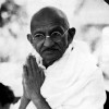 Image of Ghandi with hands in prayer position