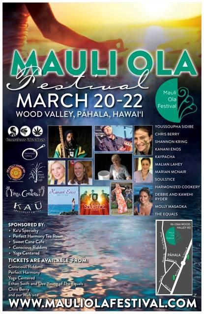Flyer For The Mauli Ola Festival 2015