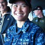 RIMPAC - Young Bridge Officer on the USS Ronald Reagan