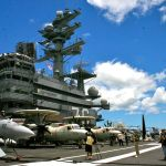 """The Island"" aboard the USS Ronald Reagan"