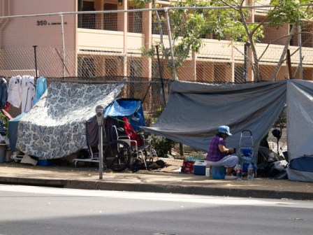 The homeless population in Hawaii continues to rise Photo: Emily Metcalf