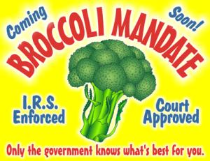 broccoli mandate cartoon, ObamaCare cartoon, Supreme Court cartoon