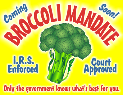 broccoli mandate cartoon, ObamaCare cartoon, Supreme Court cartoon