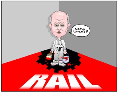 Honolulu Authority for Rapid Transit cartoon HART cartoon, Daniel Grabauskas cartoon