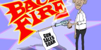 Obama gun control cartoon