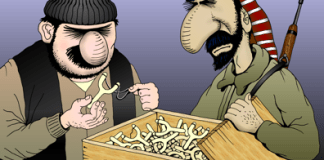 Obama cartoon, Obama sends small arms to Syrian Rebels, too little too late
