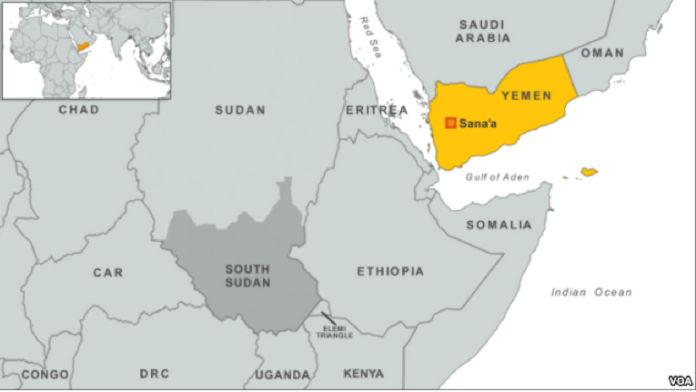 A suspected U.S. drone strike in Yemen has killed six al-Qaida militants.   Officials in Yemen said the airstrike Monday targeted a car carrying the militants in Marib province, east of the capital Sana'a.   The U.S. does not comment on individual drone strikes, but has repeatedly used unmanned aircraft to target al-Qaida members in Yemen.   Monday's attack comes as Yemen's military continues an offensive to try to drive al-Qaida out of its strongholds in the southern part of the country. The army says it has killed dozens of militants since launching the operation two weeks ago.   Al-Qaida in the Arabian Peninsula is one of the terror group's most active branches, and has carried out numerous attacks against military targets, tourists and diplomats in recent years.   Suspected militants have carried out reprisal attacks in response to the Yemeni military operation, including a suicide bombing Sunday that killed at least 12 officers outside a police station in the city of Mukalla.
