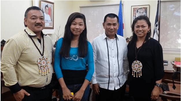 p. Mizuno, Sophia Mae Paltingca, Leyte Governor Leopoldo Dominic Petilla, May Mizuno