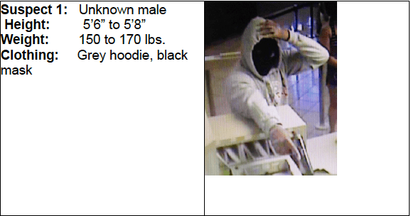CRIMESTOPPERS BANK ROBBER