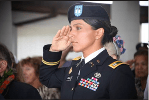 SALUTE: U.S. Rep. Tulsi Gabbard, D-Hawaii, is an Army veteran