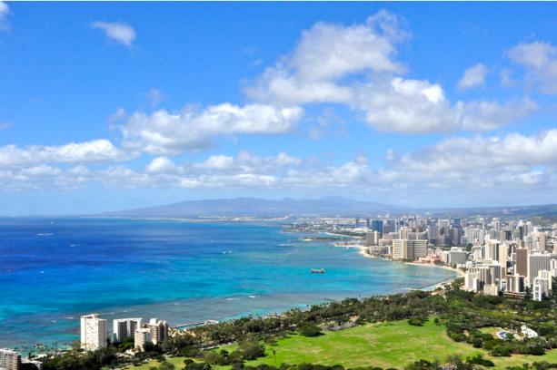 Honolulu as Seen from Diamond Head (photo by Teri Tico)