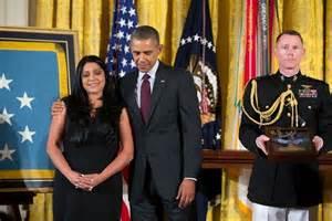 Lenora Alvarado w Barack 3Aug2014