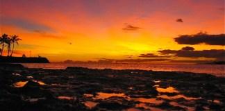 Sunset from Ala Moana Beach Park
