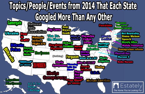 Google most searched map for 2014