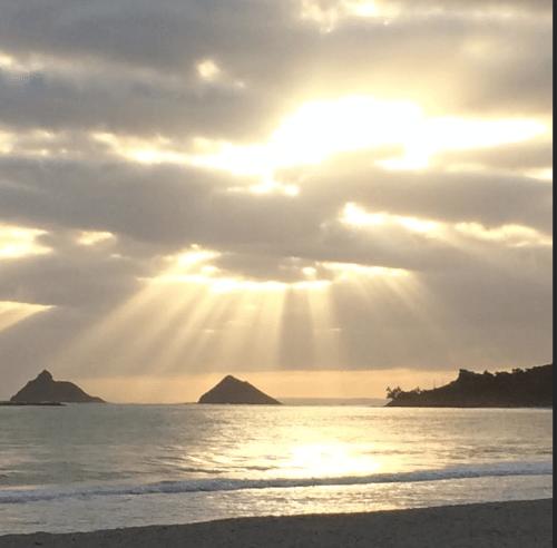 Sunrise over Kailua beach