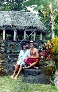 003-in-the-village-with-emmie-in-front-of-a-samoan-fale
